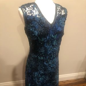 NWOT Tahari lace dress in size 12.